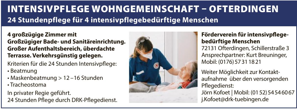 Förderverein für intensivpflegebedürftige Menschen