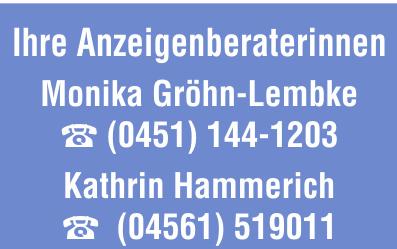 Ihre Mediaberaterinnen: Monika Gröhn-Lembke