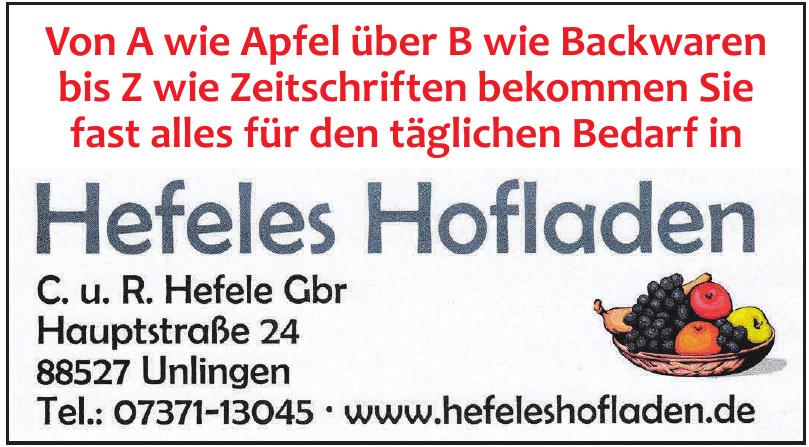 Hefeles Hofladen C. u. R. Hefele Gbr