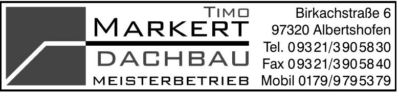 Timo Markert Dachbau Meisterbetrieb