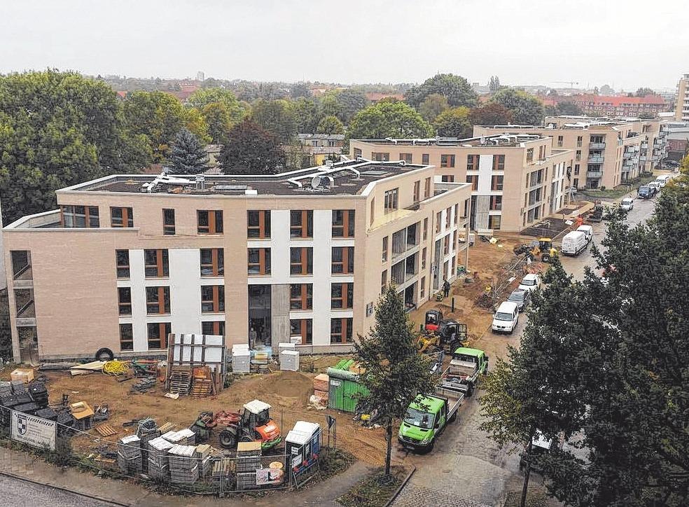 In St. Lorenz Süd wurden Wohnhäuser aus den 1950er Jahren durch 95 teilweise geförderte Wohnungen ersetzt.