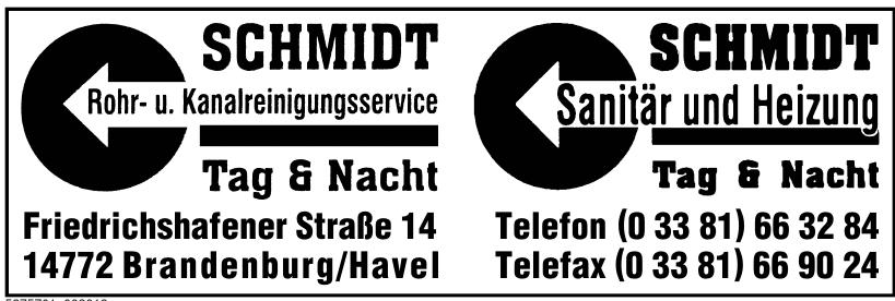 Schmidt Rohr- u. Kanalreinigungsservice