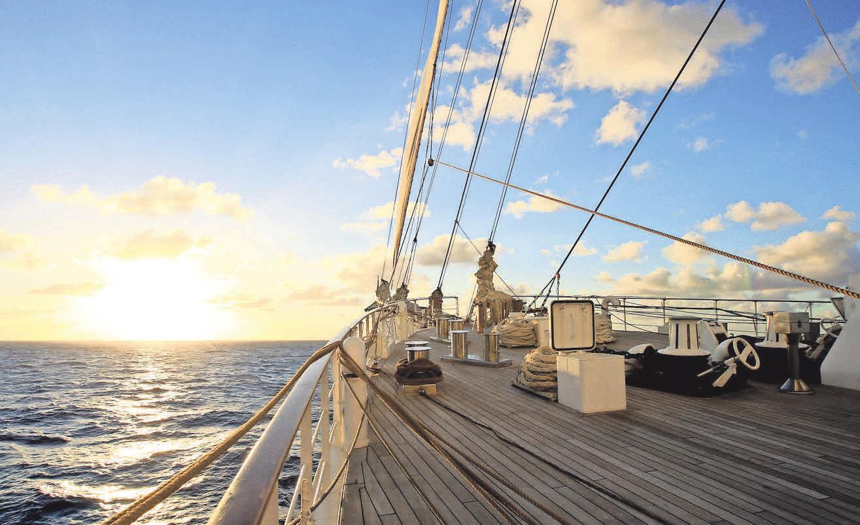 Die wunderschönen Segelschiffe von Sea Cloud Cruises verbinden Segelleidenschaft mit der Atmosphäre einer Privatyacht. Foto: Sea Cloud Cruises