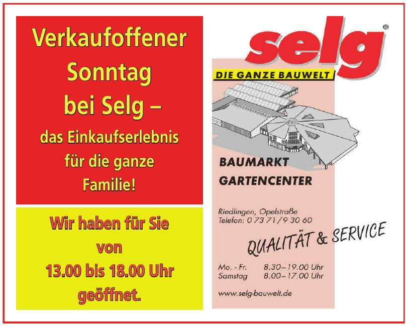 Baumarkt Gartencenter Selg