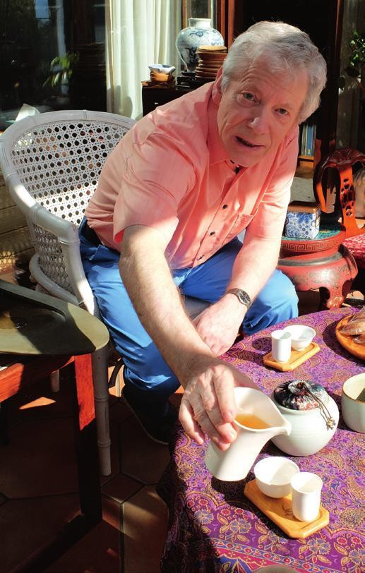 Tägliche Tee-Zeremonie: Von jeder Taiwan-Reise bringt Andreas Stier neues Geschirr mit