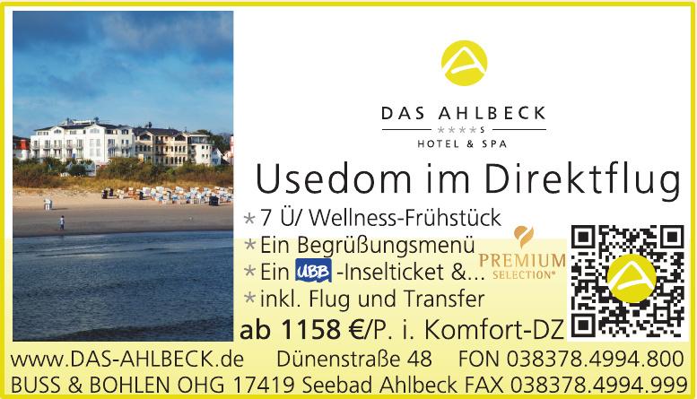 Das Ahlbeck Hotel & Spa - Buss & Bohlen OHG