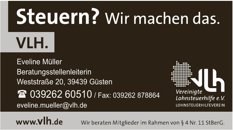 VLH Vereinigte Lohnsteuerhilfe - Beratungsstellenleiterin Eveline Müller