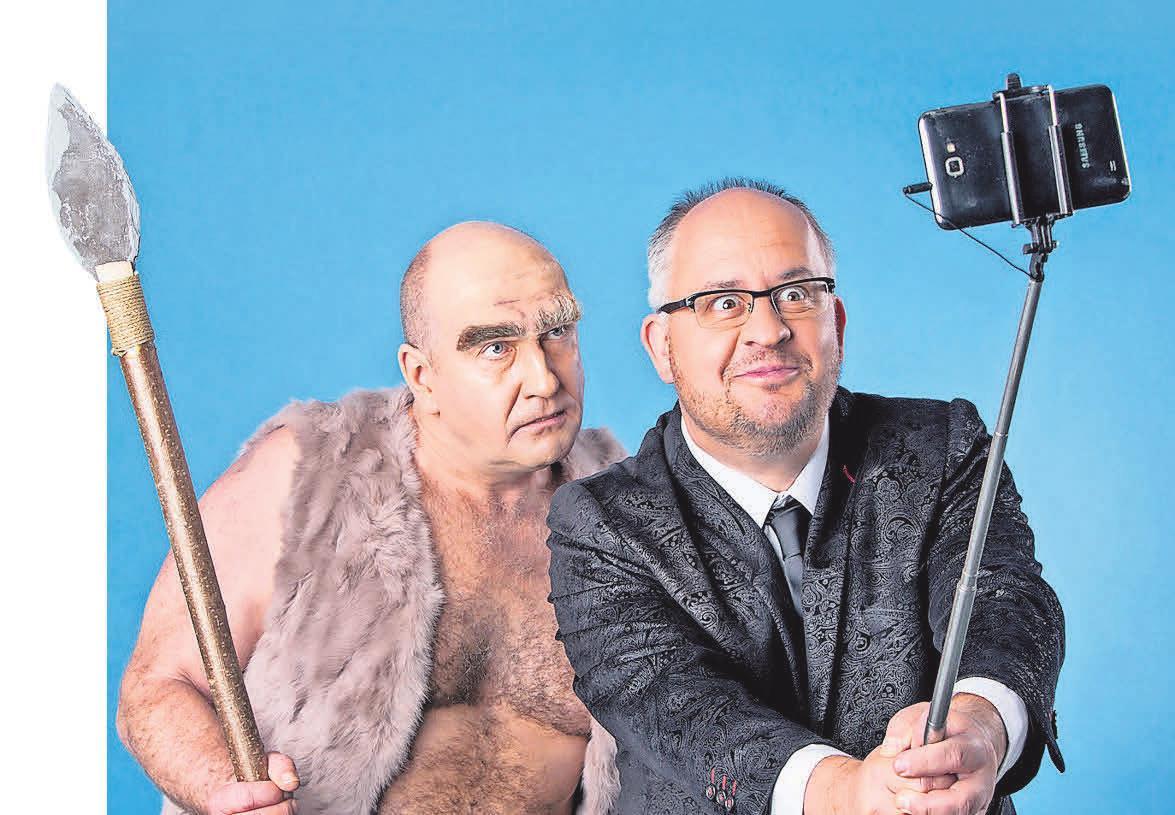 Die Musikkabarettisten Dirk Pursche und Stefan Klucke sorgen als Duo Schwarze Grütze sicherlich für einige Lacher auf der 57. Burgfestwoche. FOTO: STEFAN HOYER