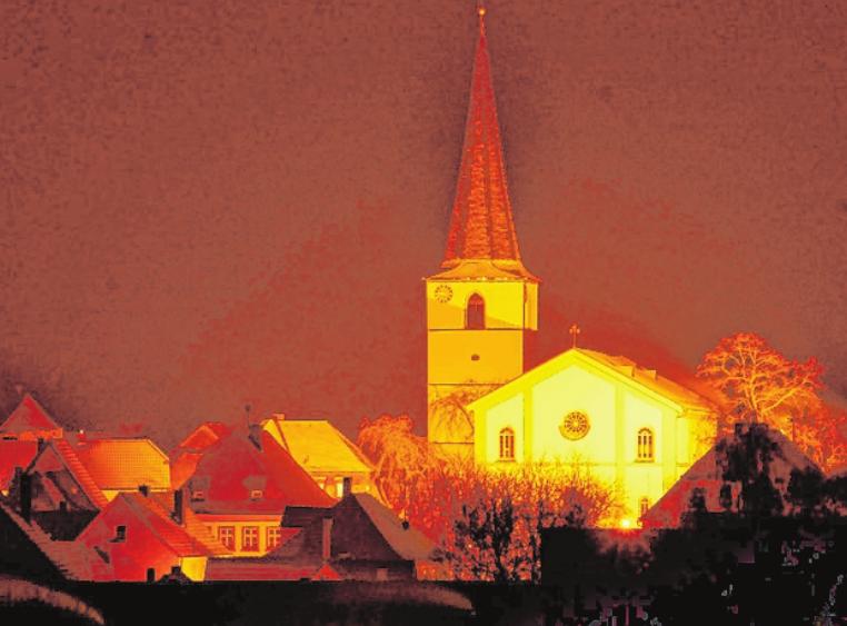 Herausragender Mittelpunkt Frankenwinheims ist die katholische St. Johanneskirche. FOTO: POLSTER