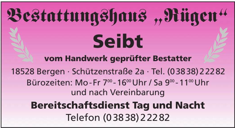 """Bestattungshaus """"Rügen"""" Seibt"""
