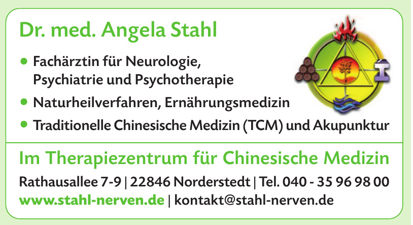 Dr. med Angela Stahl - Therapiezentrum für Chinesische Medizin