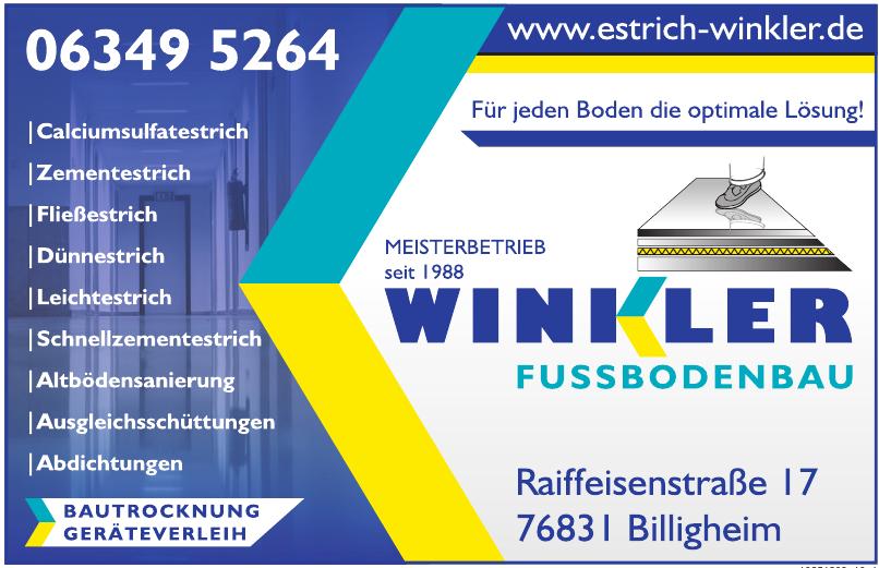 Winkler Fussbodenbau