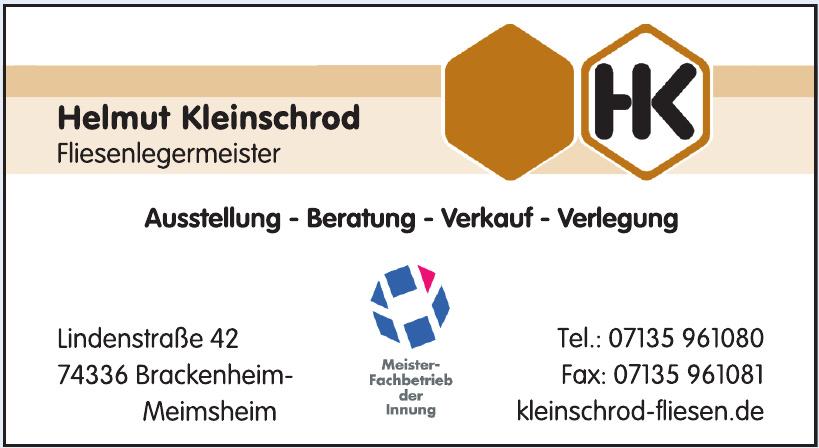 Helmut Kleinschrod Fliesenlegermeister