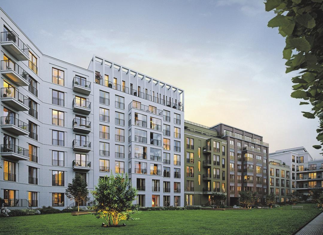 Blick in den Innenhof. Visualisierung: Becken Development GmbH