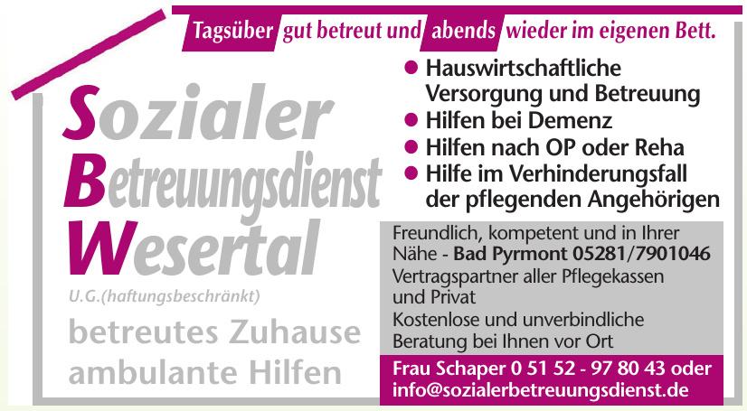 SBW Sozialer Betreuungsdienst Wesertal U.G.