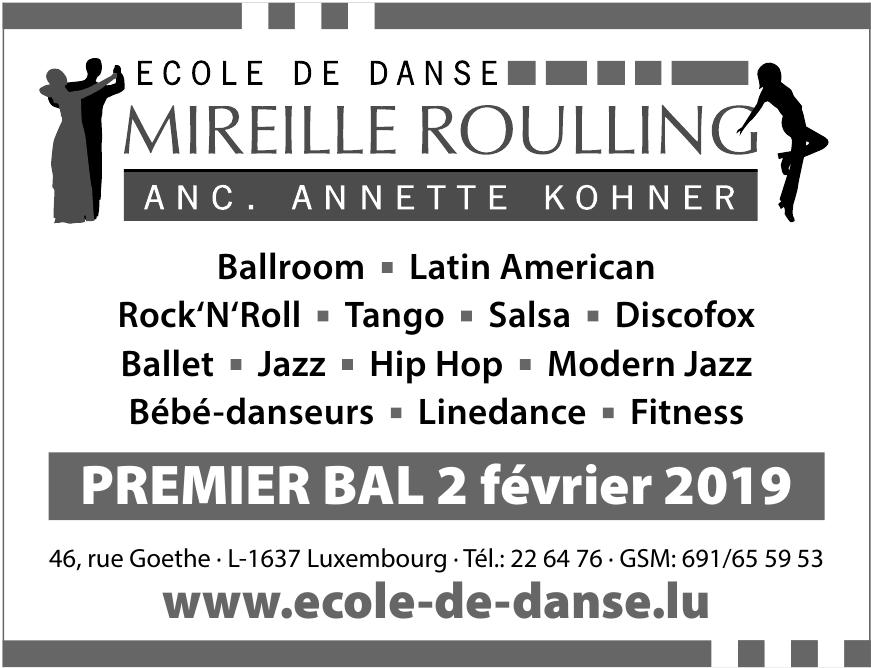 Ecole de Danse Mireille Roulling