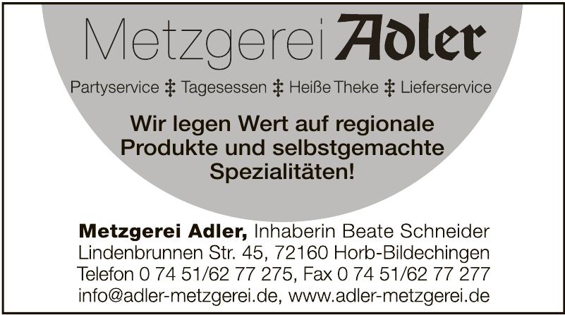 Metzgerei Adler Bildechingen