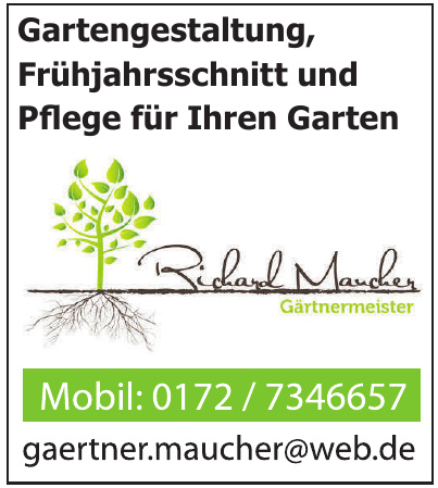 Richard Maucher Gartenmeister