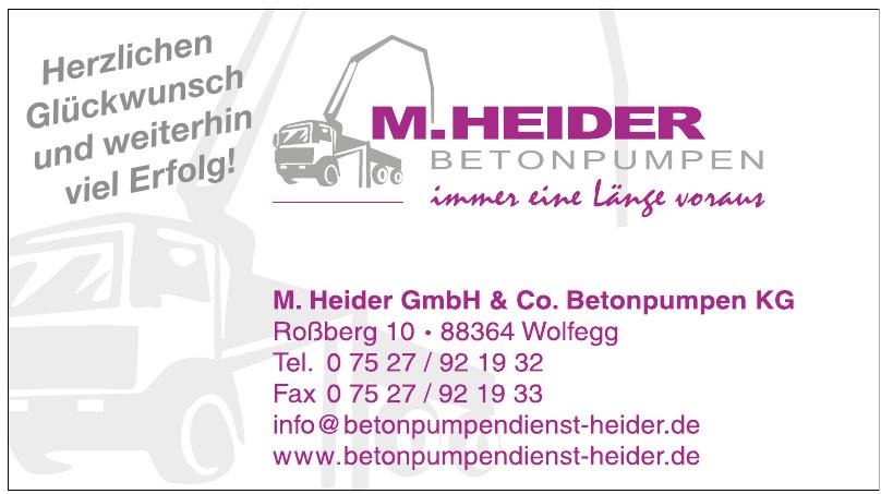 M. Heider GmbH & Co. Betonpumpen KG