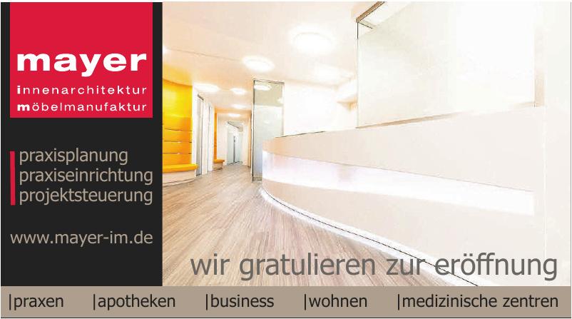 Mayer Innenarchitektur & Möbelmanufaktur
