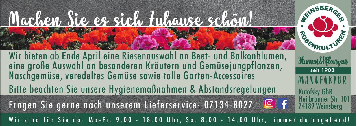 Weinsberger Rosenkulturen Blumen & Pflanzen Kutofsky GbR