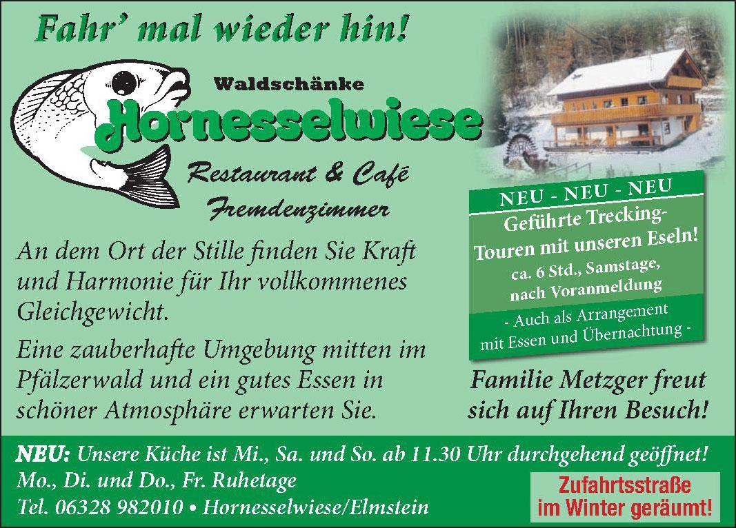 Waldschänke Hornesselwiese Restaurant & Café Fremdenzimmer