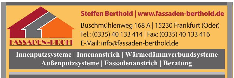 Fassaden-Profi Steffen Berthold