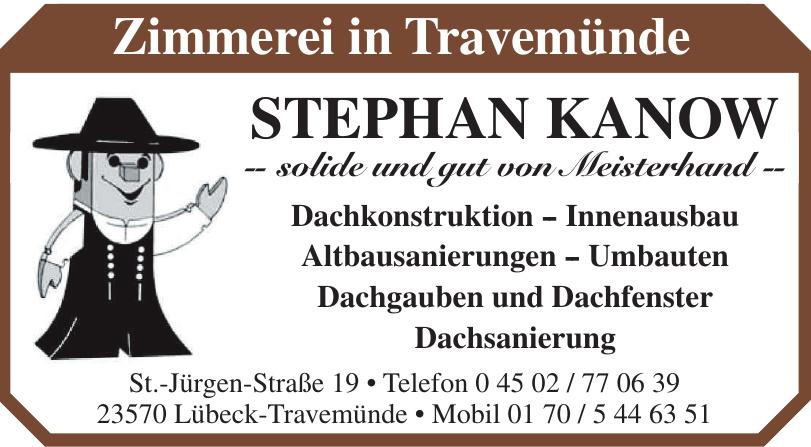 Zimmerei in Travemünde Stephan Kanow