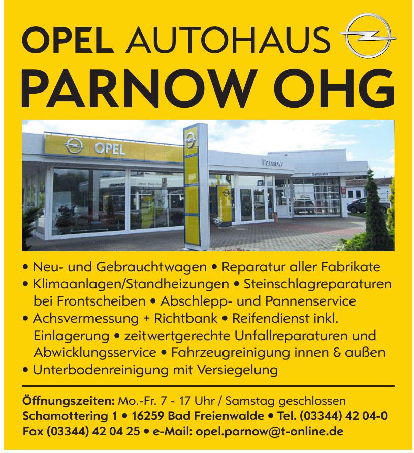 Opel Autohaus Parnow OHG