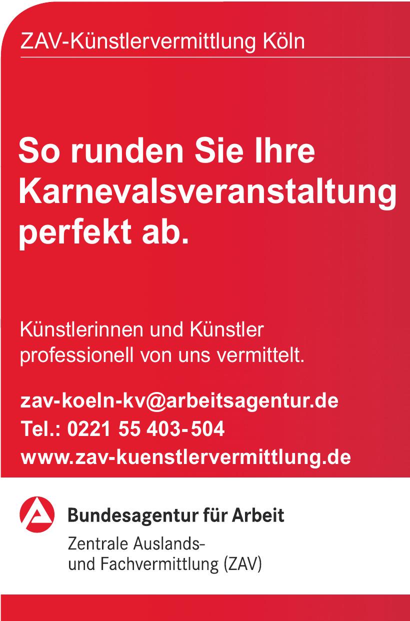 Bundesagentur für Arbeit Zentrale Auslands- und Fachvermittlung (ZAV)