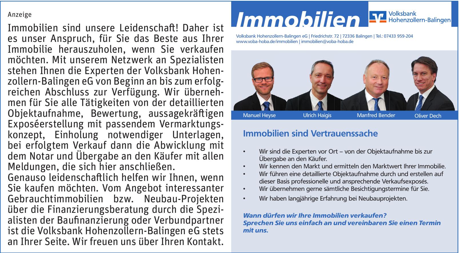 Volksbank Hohenzollern-Balingen eG