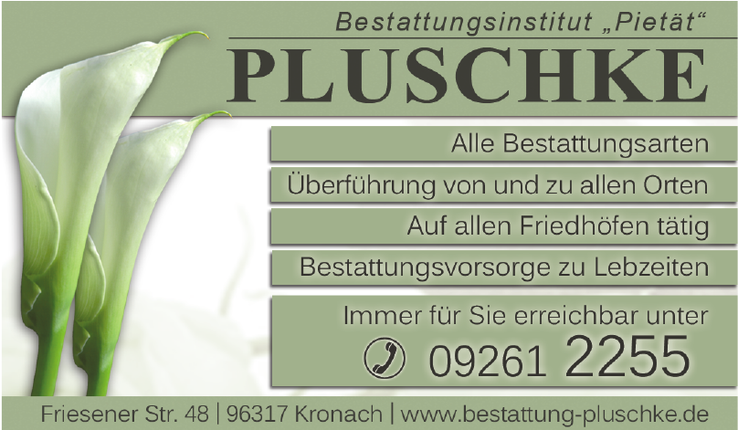 Pluschke Bestattungsinstitut Pietät