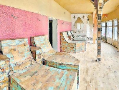 Gemütlich eingerichtet und mit leicht orientalischem Flair lädt der Ruheraum (im Bau) zum Entspannen ein. Foto: DudoPark