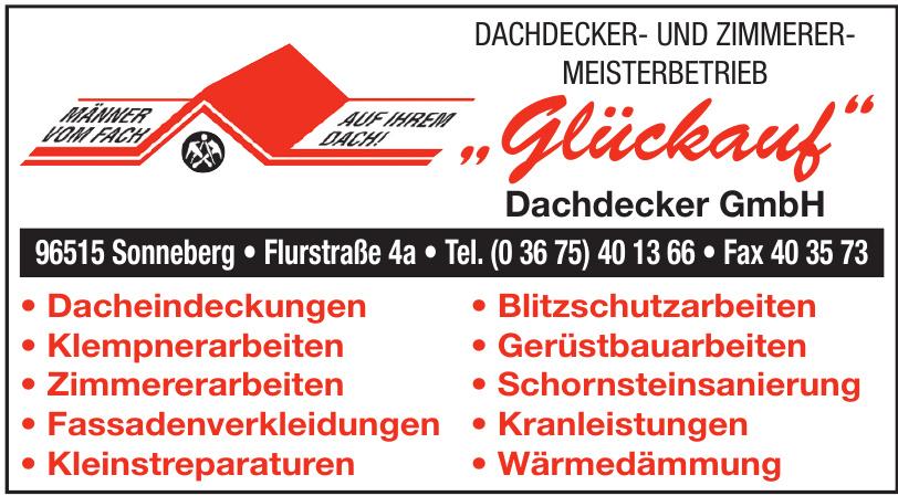 """""""Glückauf"""" Dachdecker GmbH"""