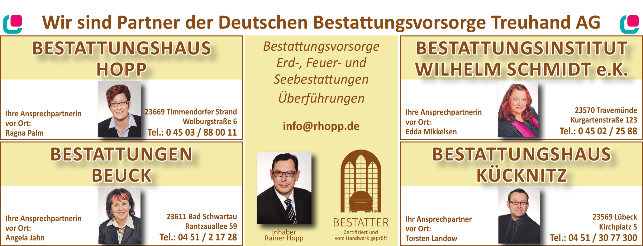 Partner der Deutschen Bestattungsvorsorge Treuhand AG