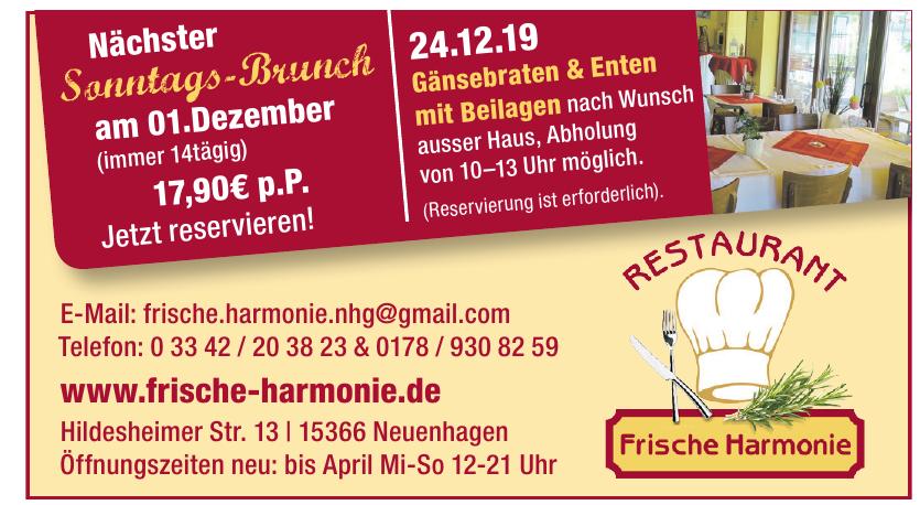Restaurant Frische Harmonie