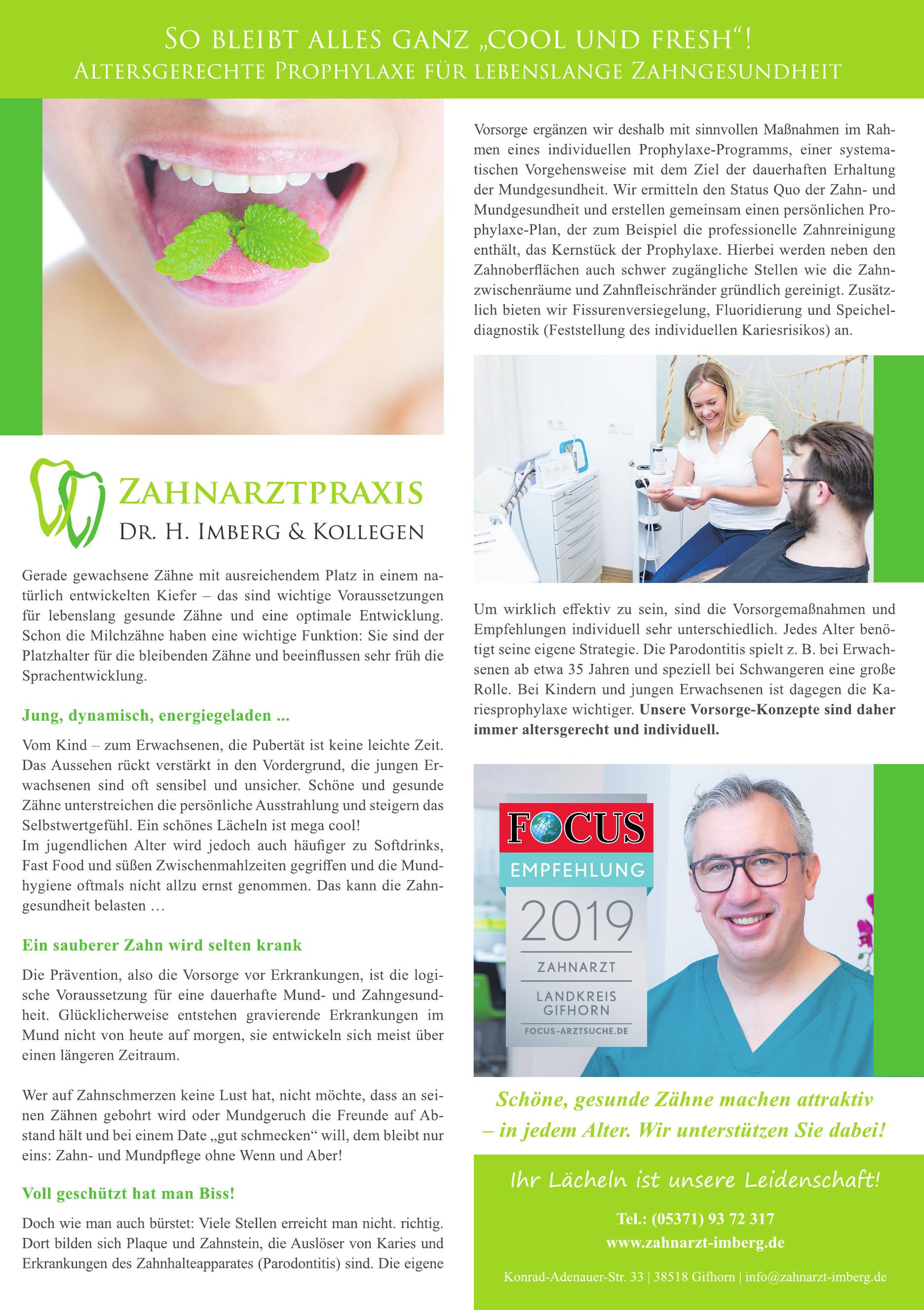 Zentrum für Zahngesundheit Dr. Imberg & Kollegen