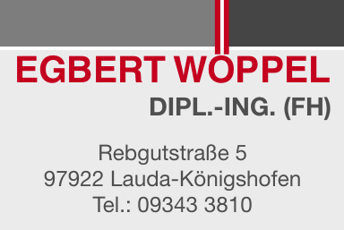 Dipl.-Ing.  (FH) Egbert Wöppel