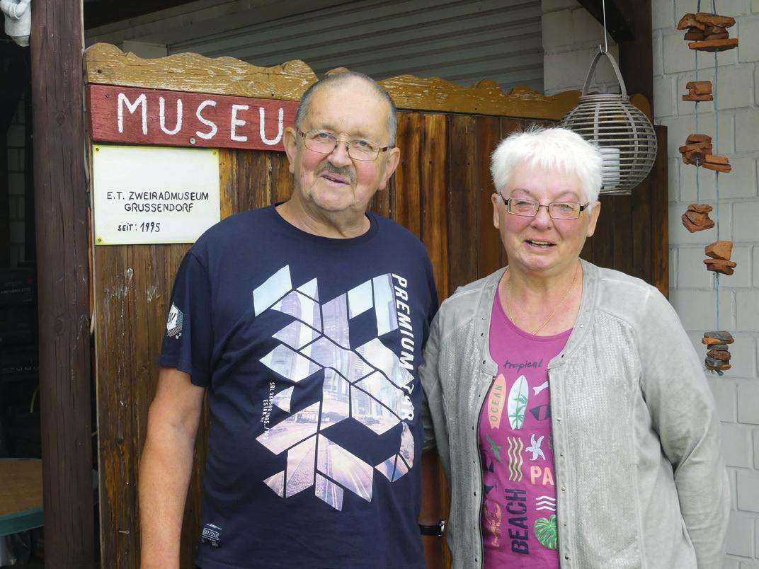Vor 25 Jahren eröffneten Egon und Brigitte Tantius ihr Zweiradmuseum in Grußendorf.
