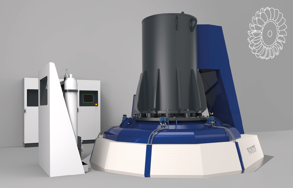 Vertikale eQ Pelton-Einheit –<div>Ausgangsleistung</div> <div>bis zu 1.200 kW</div>