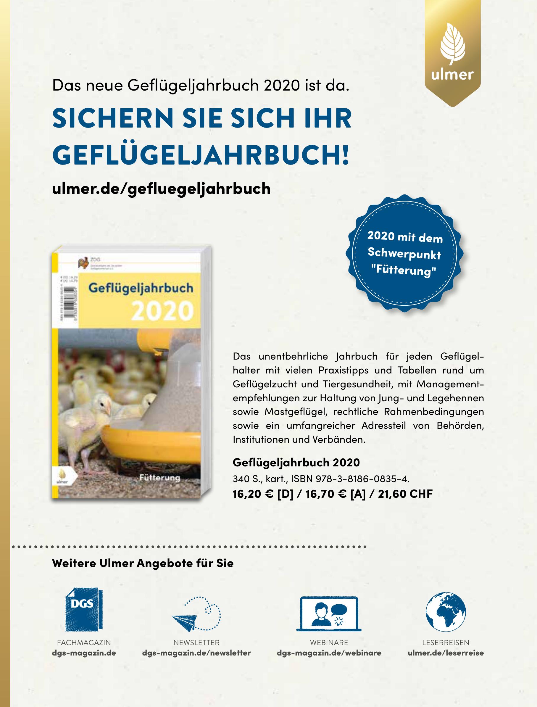 Ulmer - Geflügeljahrbuch 2020