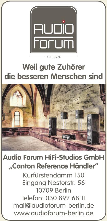 Audio Forum HiFi-Studios GmbH