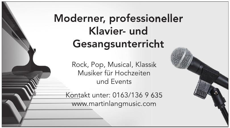 Moderner, professioneller Klavier- und Gesangsunterricht