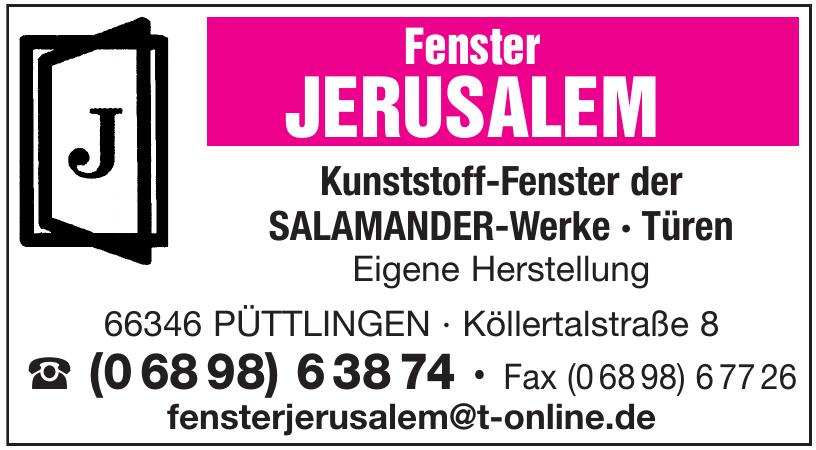 Fenster Jerusalem