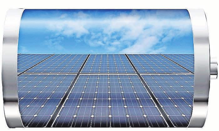 """Eine Photovoltaik-Speicher-Kombination mit Lithium-Ionen-Batterie, gehört als Speicher zur Standardausrüstung für """"Sonnenstromer"""". Foto: Jason Winter"""