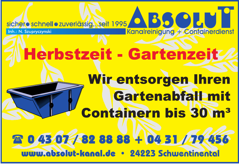 Absolut Kanalreinigung + Containerdienst