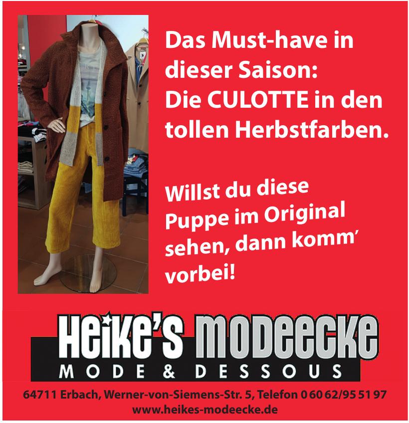 Heike´s Modeecke