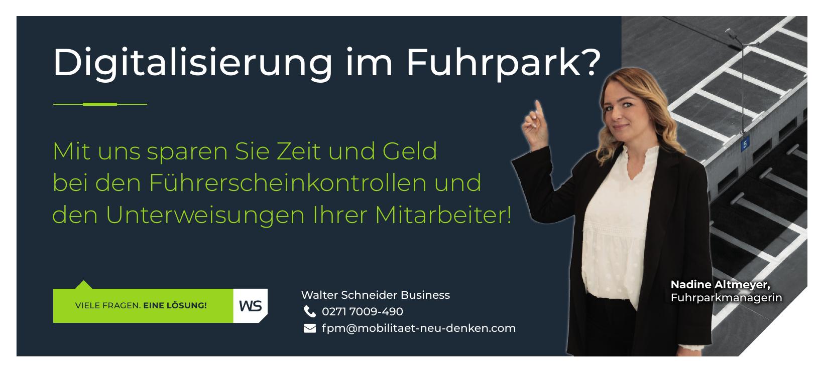 Walter Schneider Business