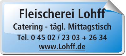 Fleischerei Lohff Catering - tägl. Mittagstisch