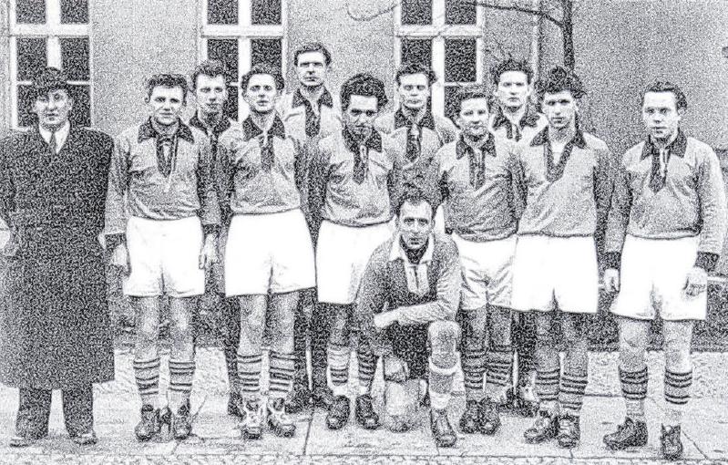Die Lok-Truppe von 1956/57. Foto: Verein